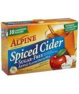 Alpine Spiced Cider Sugar-free Apple Flavor Drink Mix .14 Oz Pouch 10 Ct... - $34.39