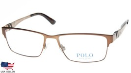 New Polo Ralph Lauren Ph 1147 9147 Brushed Brown Eyeglasses Frame 54-16-145 B34 - $89.09