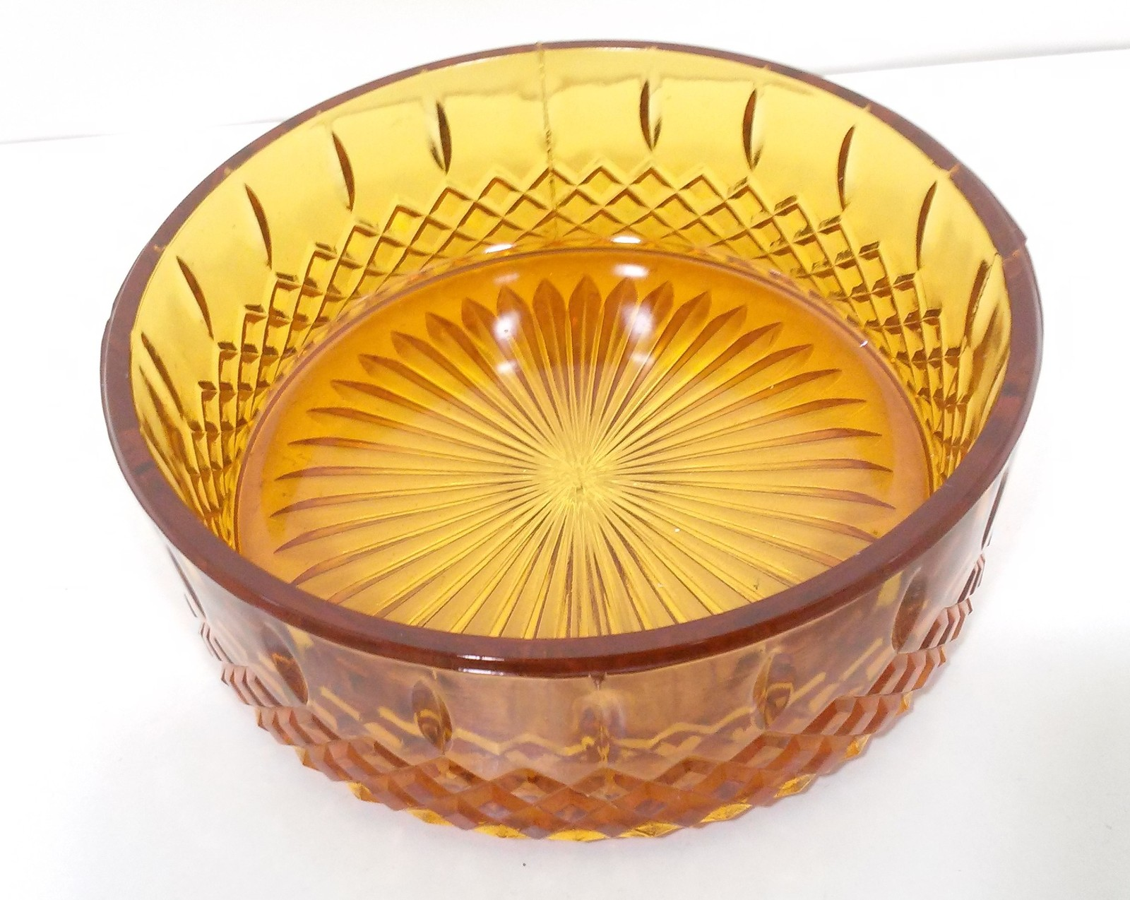 Indiana Glass Princess Amber Giftware Glass Candy Dish No Lid