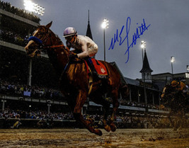 Mike E. Smith signed Justify 2018 144th Kentucky Derby 8x10 Photo Triple... - $88.95
