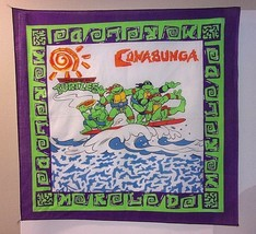 TMNT Bandana Out of Shells Tour VTG 1990 Teenage Mutant Ninja Turtles Sc... - $16.78