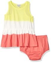 Splendid Baby Girls Double dip dye Dress Set, Optic White, 6/12 mo - $41.68