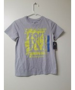 Champion Boys Forever Fly 10/12 Grey With Yellow Print T - Shirt - $10.69