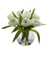 Tulips Arrangement w/Vase - $44.40