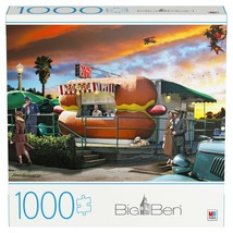 "Big Ben ""Hot Diggity Dog"" 1000 Piece Jigsaw Puzzle - 20"" x 27"" in - $25.29"