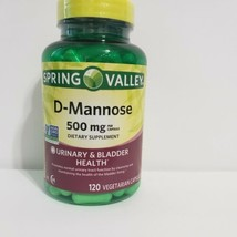 Spring Valley D-Mannose Urinary & Bladder Health Supplement 500 mg 120 Capsules - $19.79