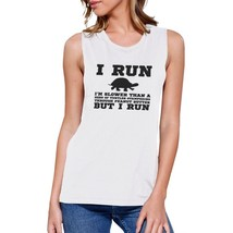 Turtle Work Out Muscle Tee Women's Workout Tank Gym Sleeveless Top - $14.99