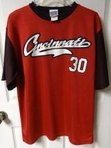 Vintage 2000 Ken Griffey Jr Cincinnati Reds # 30 Pullover Baseball Jersey Men XL - $28.69