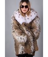 Bobcat Lynx Fur Coat Women's Fox Collar US Cites Approved/MEXA/Pelzmantel - $1,192.95