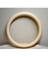 "Genuine pre-ban vintage ivory bangle bracelet smooth 1 7/8"" across - $125.00"