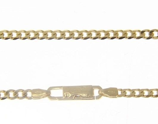 MASSIVE 18K GOLD GOURMETTE CUBAN CURB CHAIN 2.8 MM 20 IN. NECKLACE MADE IN ITALY