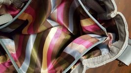 Tignanello Bluish Grey Leather Shoulder Bag Organizer Hobo Buckle Accent, EUC  image 5