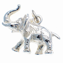 Sterling 925 Silver British Charm by Welded Bliss. African Elephant + Split Ring - $23.20
