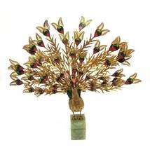 Peacock Cloisonne Sculpture Enamel Filigree Feathers Jade Green Base Sta... - $173.25