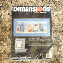 Vintage 1989 Dimensions Kids at the Beach 3939 No Count Cross Stitch Kit NEW - $28.45