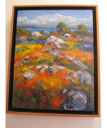 Signed STEVEN ARMSTRONG Painting Stones and Camas Acrylic on Canvas Land... - $1,472.50