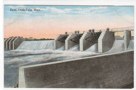 Dam Little Falls Minnesota 1910c postcard - $5.94