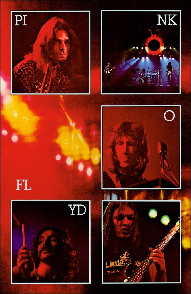 "Primary image for Pink Floyd ""Live"" Reproduction Poster Stand-Up Display - Concert Collectibles"