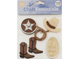 Joann Craft Essentials Wild West Embellishment Stickers #28503