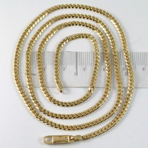 MASSIVE 18K GOLD GOURMETTE CUBAN CURB CHAIN 2.8 MM, 24.6 INCHES, NECKLACE image 1