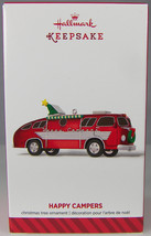 HAPPY CAMPERS Motor Home 2014 Hallmark Christmas Holiday Ornament NIB Fe... - $12.59