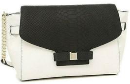 NWT Kate Spade Montrose Shantel Cement/Black Leather Chain Shoulder Bag ... - $113.77