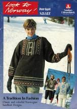 Vtg Misses Mens Norwegian Norway Sweater Jacket Vest Swedish Yarn Knit P... - $12.99