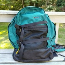 Vintage Kelty Outback Hiking Backpack Teal Soft Pack w/ Hip Belt Camping... - $31.96