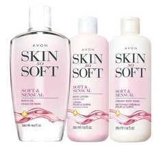 Avon Skin So Soft Soft & Sensual Bath & Body Trio Set - $31.34