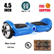 "4.5"" mini blue hoverboard two wheel balance scooter UL2272 for children - $224.00"