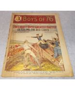 Liberty Boys of 76 Weekly Juvenile American Revolution Pulp Magazine Jul... - $19.95