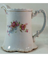 Vintage Homer Laughlin Hudson Shape Creamer in Creamy Ivory with Pretty Flowers - $19.99