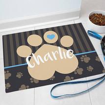 Personalized Pet Mat-Heart Footprint Design-Personalized Dog Mat-Persona... - $29.95