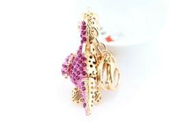 Pink Dragon Fashion Keychain Rhinestone Crystal Lovely Charm Cute Gift #... - $18.17