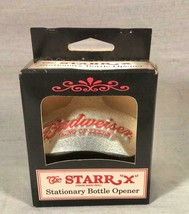"""Budweiser King Of Beers Starr """"X"""" Wall Mount Bottle Opener Mint In The Box - $25.73"""