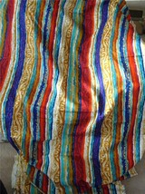 Retro Barkcloth Fabric 5th Avenue Designs Upholstery Multicolor 21.6 fee... - $193.05