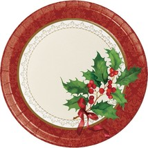 Holiday Traditions 8 Ct Dinner Paper Plates - $4.06