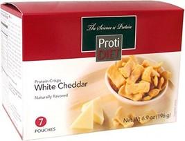 ProtiDiet - Protein Crisps, 7 Pouches Net Wt. 8.2 oz White Cheddar