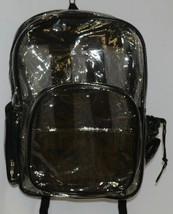 Unbranded Item Clear Netted Backpack Black Trim  Large Five Pockets image 1