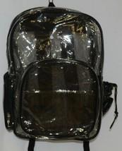 Unbranded Item Clear Netted Backpack Black Trim  Large Five Pockets image 1