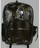 Unbranded Item Clear Netted Backpack Black Trim  Large Five Pockets - $21.99