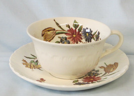 Wedgwood Robert Sprays Flat Cup & Saucer Style 1 - $15.73