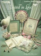 United In Love Leisure Arts Cross Stitch Pattern Leaflet 304 Wedding Mar... - $6.99