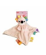 NEW Bright Starts Cuddle N Tags Pink Flamingo Lovey Purple Polka Dots Te... - $21.56