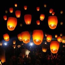 50pcs Oval Shape Flane-resistant Fire Sky Chinese Kongming Lanterns Kit - €28,53 EUR