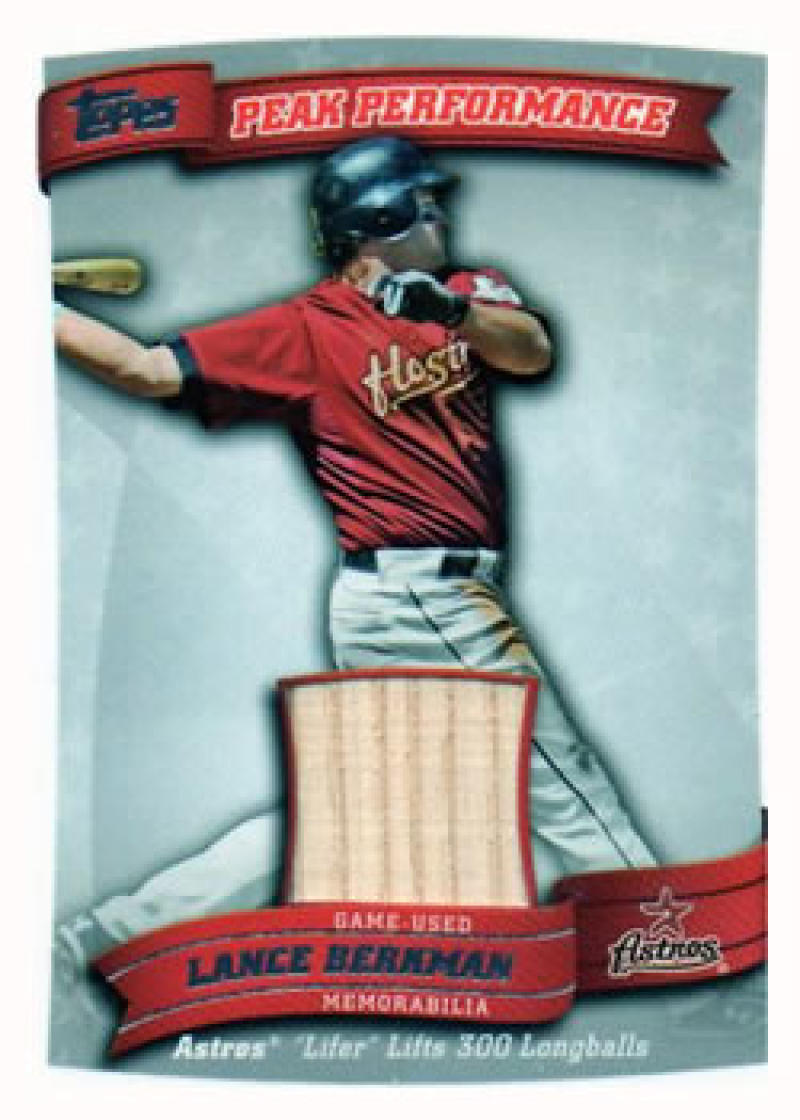 Primary image for 2010 Topps Peak Performance Relics #PPR-LB Lance Berkman Astros S2 NM-MT (Memora