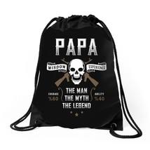 Papa The Man The Myth The Legend Drawstring Bags - $30.00