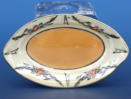 Vintage Open Salt Dip Cellar Noritake Japan Hand Painted Lusterware