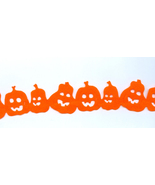 Felt Halloween Jack O Lantern Bright Orange Trim Costumes Craft  Home Décor - $2.00
