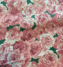 """Peony Rose Floral Fabric Traditions 45"""" X 36"""" Cotton Pink Flower BTY NTT... - $7.89"""